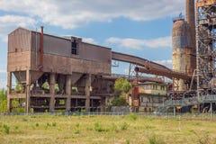 La zone de chargement fournissant le minerai, le coke et la chaux image libre de droits