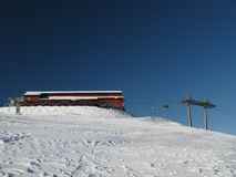 La zone de ski Photo libre de droits