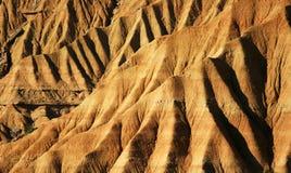 La zone desertic dans la région d'Espagnol de Navarra Image libre de droits