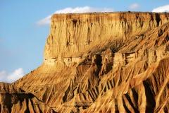 La zone desertic dans la région d'Espagnol de Navarra Photos libres de droits