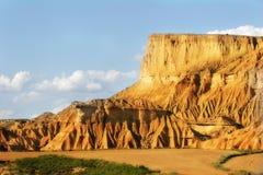 La zone desertic dans la région d'Espagnol de Navarra Photo libre de droits