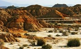 La zone desertic dans la région d'Espagnol de Navarra Photo stock