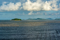 La zone intertidale côtière image libre de droits