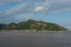 La zone intertidale côtière images libres de droits