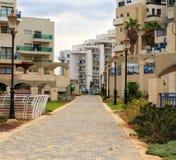 La zone résidentielle de bord de la mer dans Ashkelon, Israël Image libre de droits