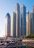 La zone résidentielle de la marina de Dubaï Photo stock