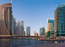 La zone résidentielle de la marina de Dubaï Image libre de droits
