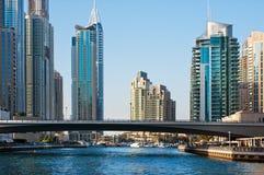 La zone résidentielle de la marina de Dubaï Photos libres de droits