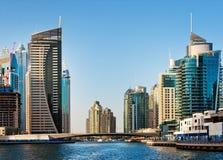 La zone résidentielle de la marina de Dubaï le 4 juin 2013 Photos libres de droits