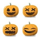 La zucca Halloween ha fissato il divertimento e sveglio illustrazione vettoriale