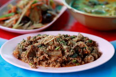 Laab - Traditional Thai food. Laab, it is the traditional Thai food, the famous food in Northeastern Style of Thailand (or calling Isaan). Usually, The Isaan Royalty Free Stock Images