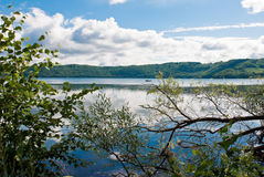 Laach Lake. (Laacher See in German) is a caldera lake and a potentially active volcano, in Rhineland-Palatinate, Germany, one of the lakes in the Vulkaneifel Royalty Free Stock Photos