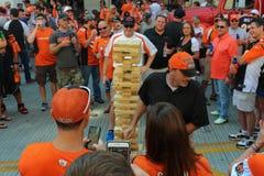 Laadklep van de Cincinnati Bengals naar huis gebaseerd Paul Brown Stadium royalty-vrije stock afbeelding