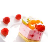 Laag-carorie-laagste fruitcake royalty-vrije stock foto