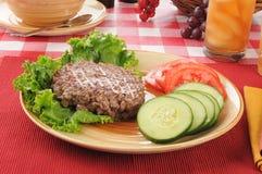 Laag - de lunch van het caloriedieet stock fotografie