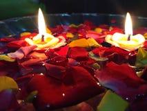 Laag licht door cadles Stock Foto's
