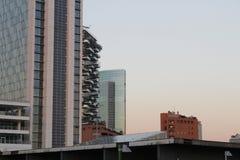 Laag licht op de horizon van Milaan Stock Foto
