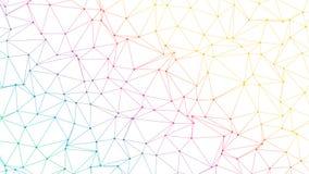 Laag Poly de Bannerontwerp van de pastelkleur Slimme Technologie vector illustratie