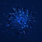 Laag Polygebied met Chaotische Structuur Stock Afbeeldingen
