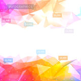 Laag-polyinfographicsachtergrond Stock Afbeelding