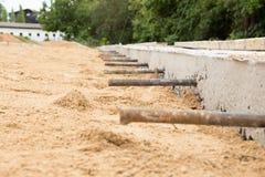 Laag van Cement betonweg Stock Afbeeldingen