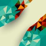 Laag veelhoek abstract vectorontwerp als achtergrond Stock Afbeelding