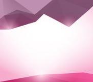 Laag veelhoek roze en purper vectorontwerp als achtergrond Stock Fotografie