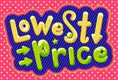 Laagste prijsaffiche Royalty-vrije Stock Afbeeldingen