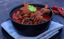 Laal Maas Lamb Red Curry. Spicy Goat/Lamb Indian red curry from the land of Rajasthan Stock Photo