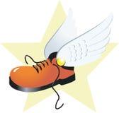 Laars en vleugels stock illustratie