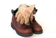 Laarzen & handschoenen 2 Stock Foto's