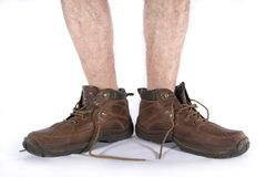 Laarzen en benen Stock Foto
