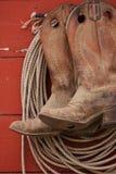 Laarzen en Kabel Stock Foto