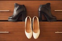 Laarzen en schoenen Royalty-vrije Stock Afbeeldingen