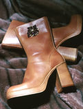Laarzen op Bont Stock Afbeelding