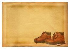 Laarzen op retro achtergrond stock afbeeldingen