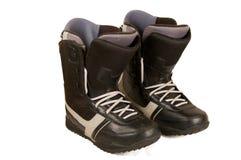 Laarzen voor een snowboard. Royalty-vrije Stock Foto's