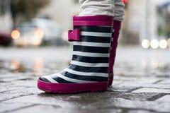 Laarzen voor regenachtige dagen Stock Fotografie