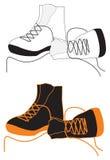 Laarzen voor sport Stock Fotografie