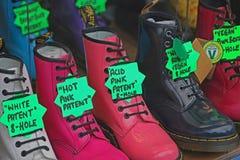 Laarzen voor Verkoop Stock Afbeelding