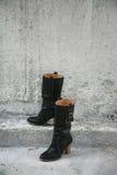 Laarzen zonder voeten Stock Foto