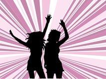 Laat dans! Stock Foto's