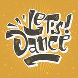 Laat Dans Van letters voorziend het Muzikale Ontwerp van de Affichedruk Vectorgrafiek Stock Foto's