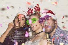 Laat de partij van ` s op Nieuwjaar` s Vooravond royalty-vrije stock fotografie