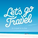 Laat gaan reis Vakanties en het Concept van het Toerisme Stock Foto's