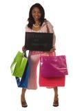 Laat gaan winkelend! Stock Foto