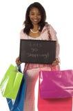 Laat gaan winkelend! Royalty-vrije Stock Afbeeldingen
