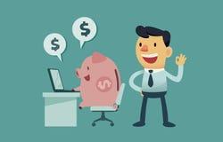 Laat geld voor u werken Stock Foto's