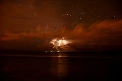 Laat - het onweer van de nachtbliksem Royalty-vrije Stock Afbeelding