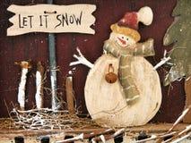 Laat het sneeuwen! Stock Afbeeldingen